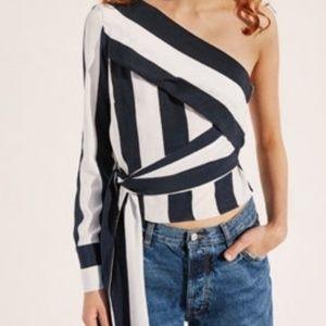 New! Zara one sleeve blouse